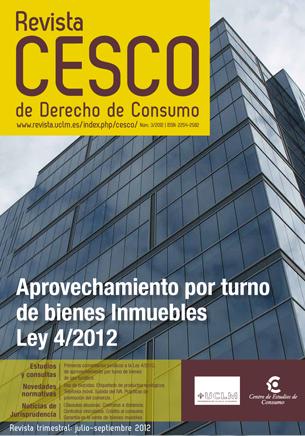 APROVECHAMIENTO POR TURNO DE BIENES INMUEBLES LEY 4/2012