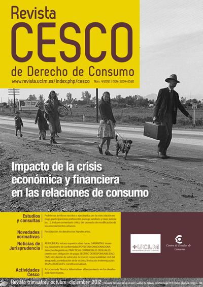 Impacto de la crisis económica y financiera en las relaciones de consumo